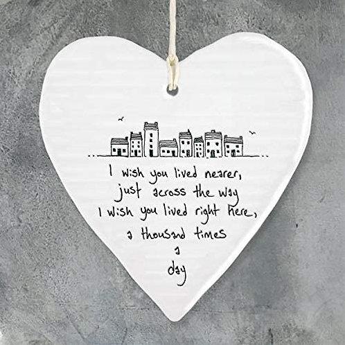 Porcelain Heart Decoration