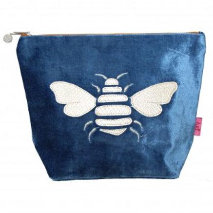 Gold Bee Cerulean Blue  Make-Up Bag