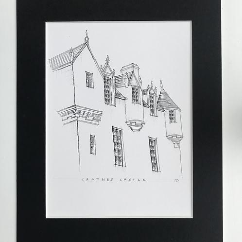 Crathes Castle Pen Print
