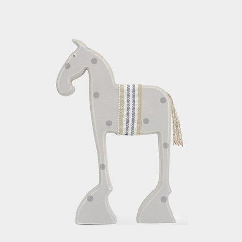 Wooden Standing Bessie Horse Decoration