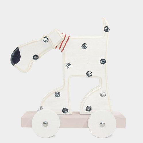 Wooden Oscar The Dog On Wheels