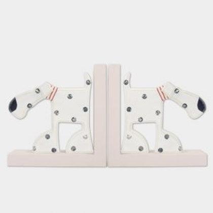 Wooden Oscar Dog Bookends