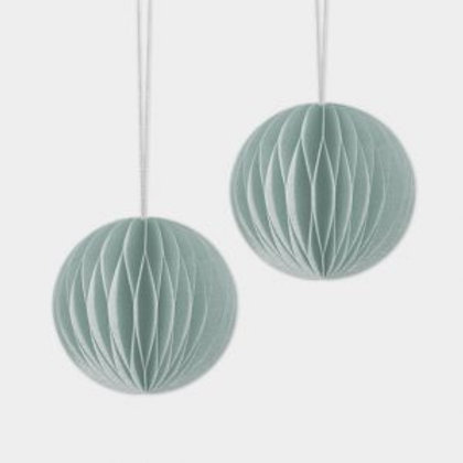 Pack of 2 Reusable Paper Honeycomb Baubles