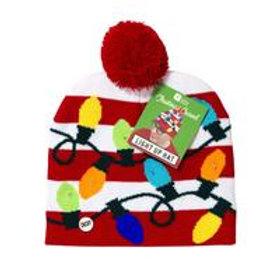Christmas Light Up Pom Pom Hat