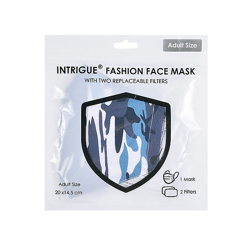 Blue Camouflage Cotton Face Mask