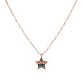 Star Shaped Rainbow Necklace