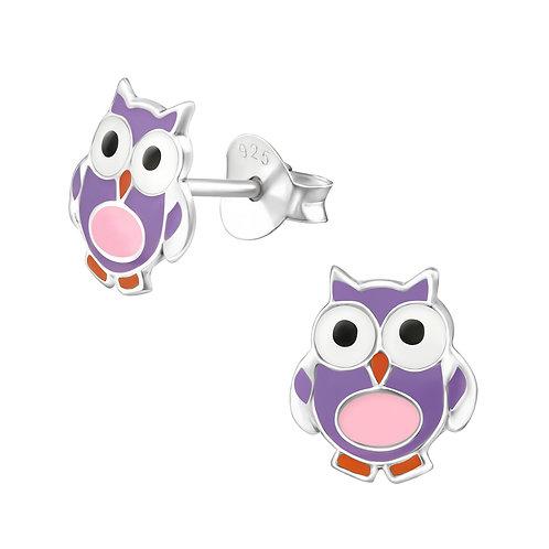 Owl 925 Sterling Silver Stud Earrings