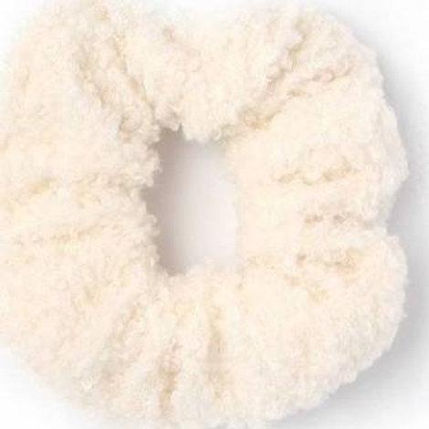 Cream Wool Look Scrunchie