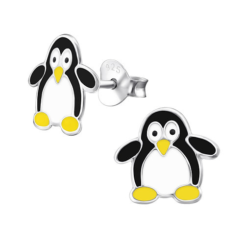 Penguin 925 Sterling Silver Stud Earrings