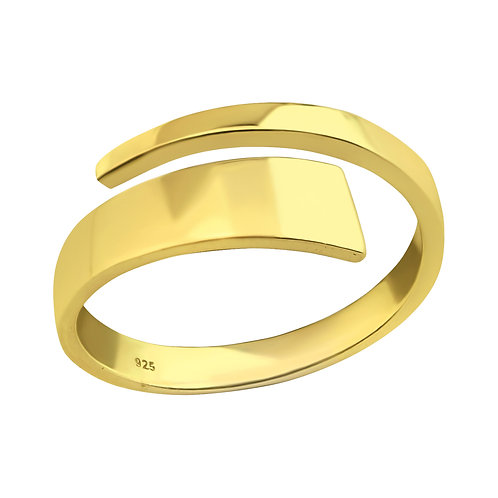 Gold Plated Sterling Silver Open ring