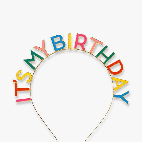 Colourful 'It's My Birthday' Headband