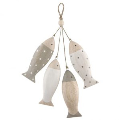 4 Hanging Fish on a String Decoration