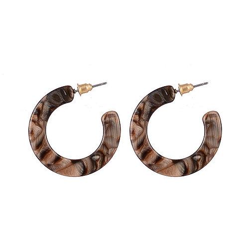Havana Inspired Hoop Earrings