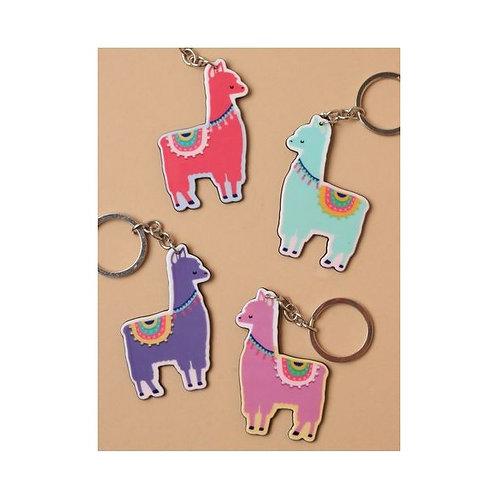 Brightly Coloured Alpaca Keyring