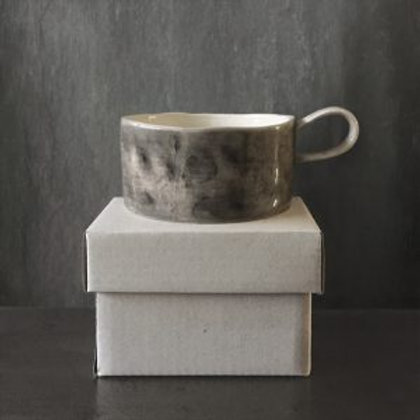 Boxed Black Wash Candle Holder with Candle
