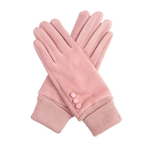 Gorgeous Dusky Pink Cuff Gloves