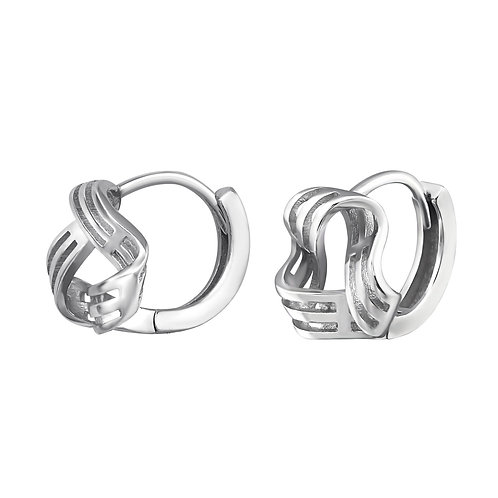 925 Sterling Silver Knot Huggies
