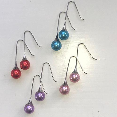 Pearl Drop Earrings in various colours