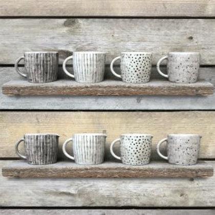 Boxed Rustic Mug in 4 designs