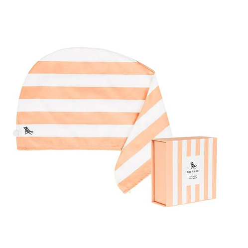 Dock & Bay Hair Wrap - Positano Peach