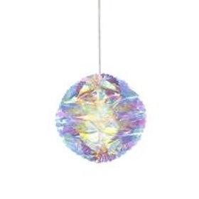 3 Decadent Iridescent Round Decorations
