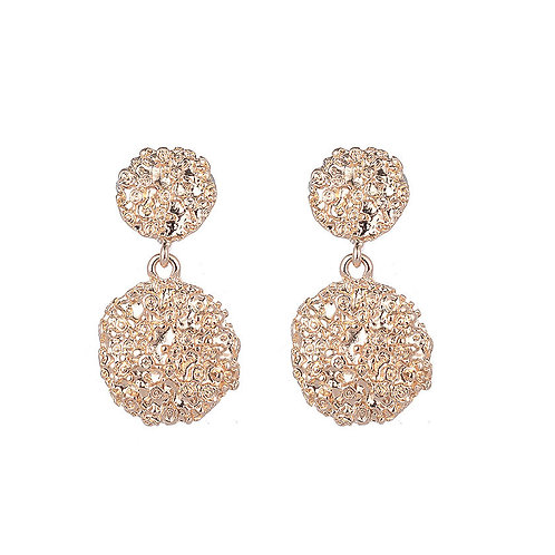Statement Textured Gold Drop Earrings