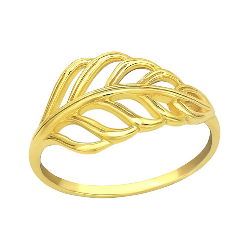 Leaves 925 Sterling Silver Ring, Size J