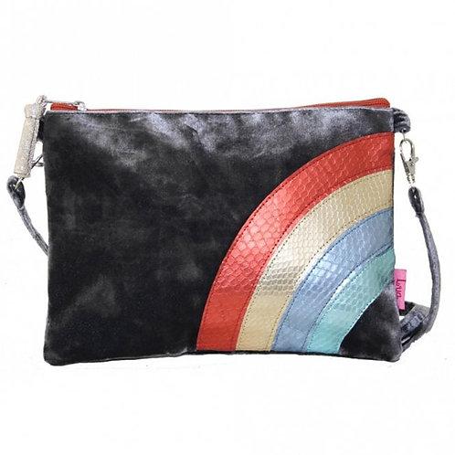 Small Cross Body Velvet Rainbow Bag