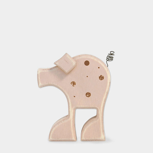 Wooden Standing Peggy Pig Decoration