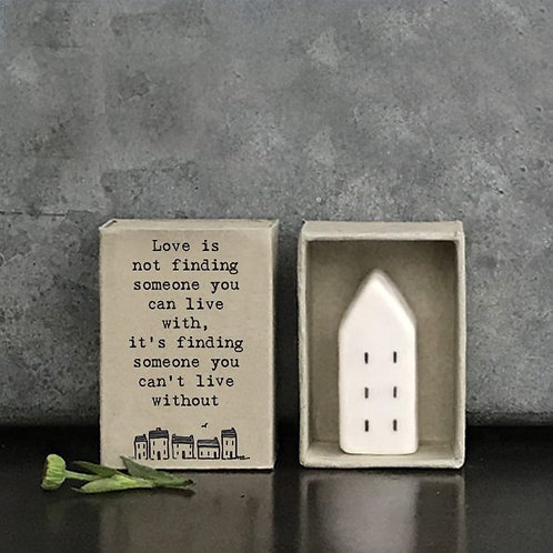 Matchbox Porcelain House Decoration