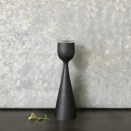 Black Wood Tea Light Holder