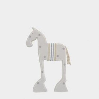 Small Wooden Standing Bessie Horse