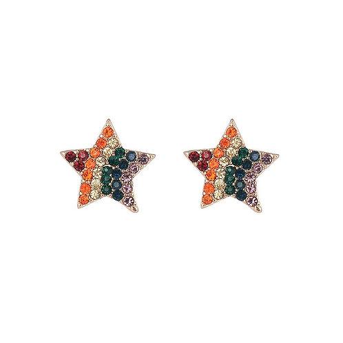 Rainbow Star Stud Earrings