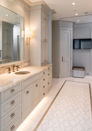 Bathroom custom cabinets
