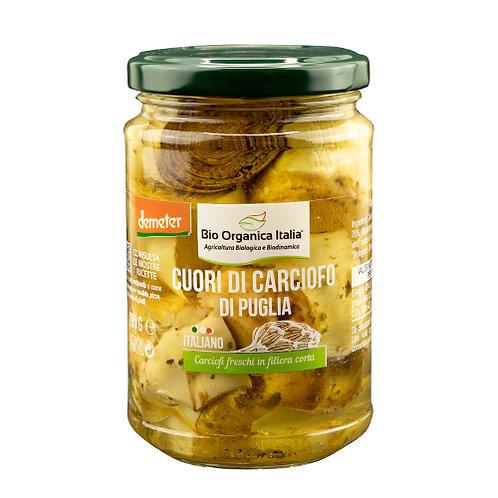 Artichoke Hearts in Oil 280g Bio Organica Italia