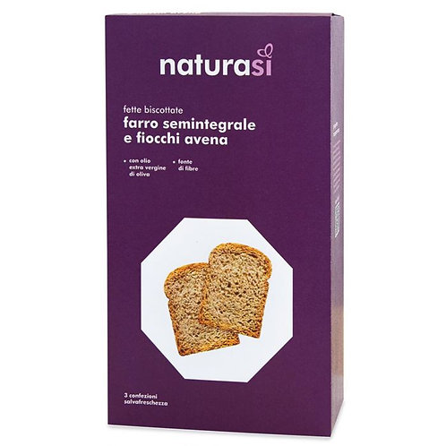 Semi-Wholemeal Spelt Flour and Oat Flakes Rusks 400g NaturaSi