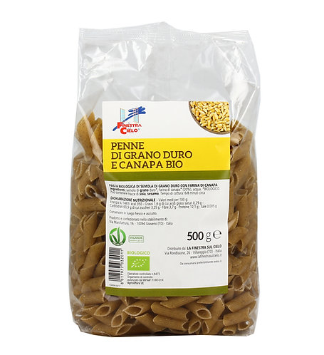 Durum Wheat & Hemp Penne 500g La Finestra Sul Cielo