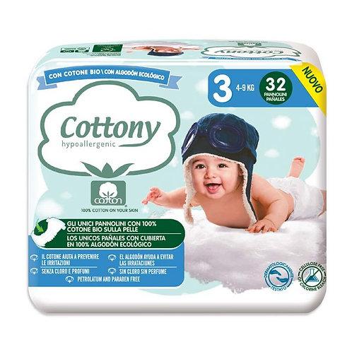 Cotton Diapers No.3 4-9kg x32