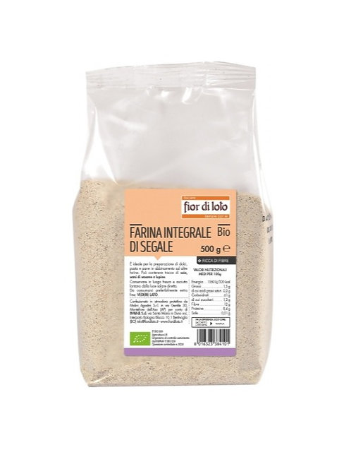 Wholemeal Rye Flour 500g Fior di Loto