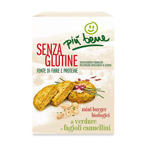 Mini Vegetable Burgers with Cannellini Beans 140g