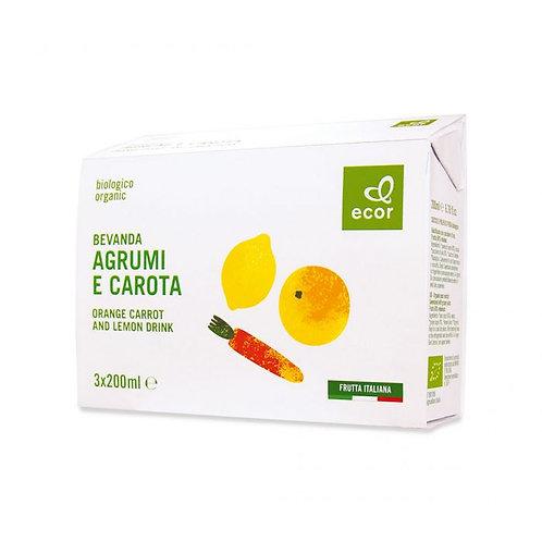 Orange, Carrot & Lemon Juice Ecor 3x200ml