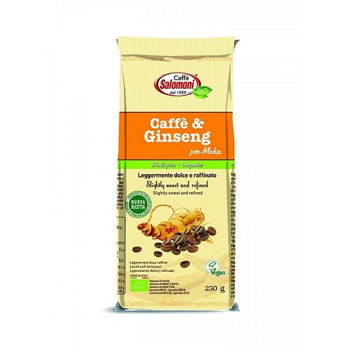 Ground Coffee & Ginseng for Moka 250g Caffe Salomoni