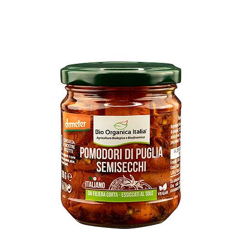 Semi-Dried Puglia Tomatoes in Oil 190g Bio Organica Italia