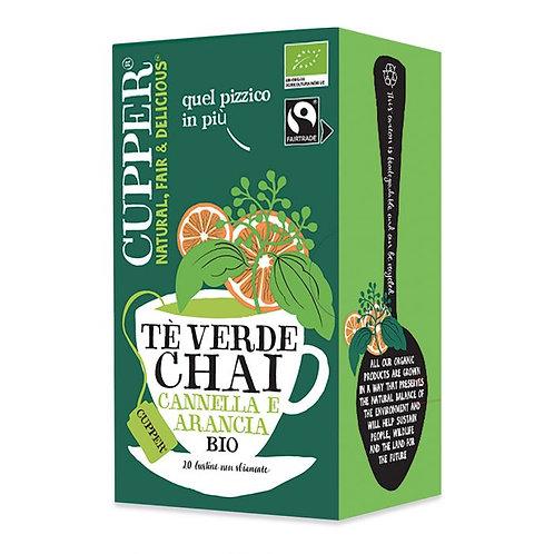 Chai Green Tea with Cinnamon, Orange Zest & Cardamom in Bags 35g