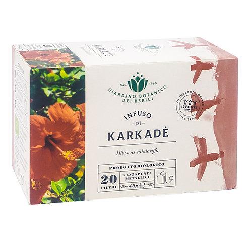 Infusion of Hibiscus (Karkade) Tea in Filters 40g Berici-Infusi