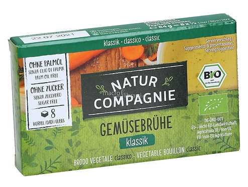 Sugar-Free Vegetable Stock Cubes 84g Natur Compagnie