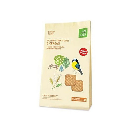6 Grains Semi-Wholemeal Shortbread Biscuits 350g