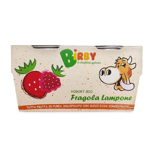 Yoghurt Birby Strawberry & Raspberry 2x115g Birby