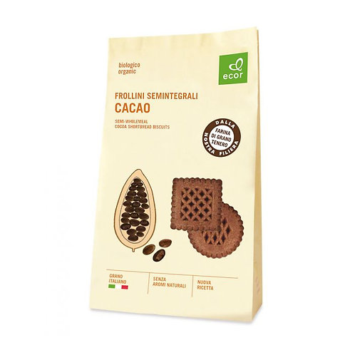Semi-Wholemeal Cocoa Shortbread Biscuits 350g Ecor