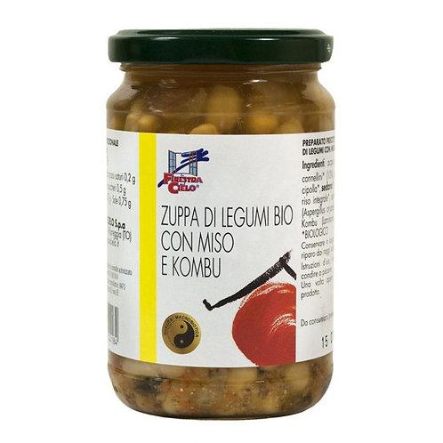 Legume Soup with Miso & Kombu Seaweed 300g La Finestra Sul Cielo